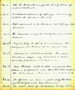 Callander School log book 1943
