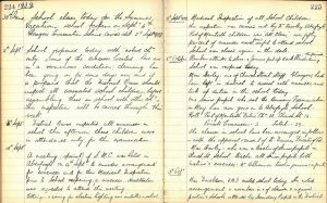 Port of Menteith school log recording the arrival of evacuees, 1939