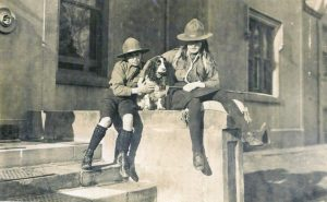 Keen scouts with their dog