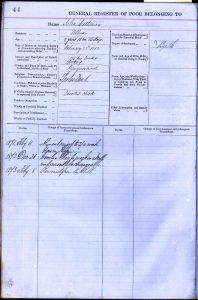 John Coltman's entry in the Gargunnock Parish Register of the Poor