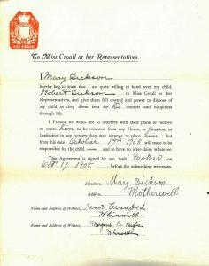 Consent form 1908