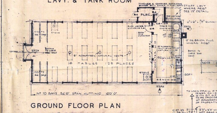 Raploch Primary School dining room floor plan