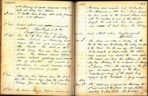 Bridge of Allan School log book 1891