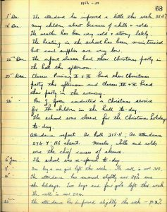Raploch School log book 1952