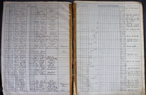 Buchanan admission and withdrawal register 1882 - 1968