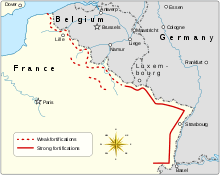Map showing the Maginot Line