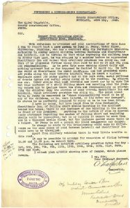 Letter school inspector to constabulary 23 May 1943