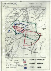 Plan of shelling area, 1942