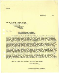 Letter Education Committee to the military authorities 25 May 1943