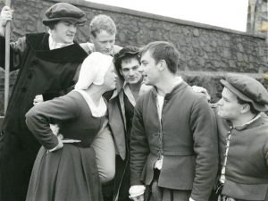 Players in character at Stirling Castle Esplanade