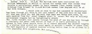 Thomas Graham's Diary entry for 3rd September 1939