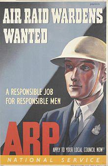 Air Raid Warden recruitment poster
