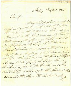 Letter John Fraser to William Murray 2nd April 1820