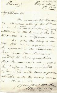 Letter, Kincaid & Davidson to Murray 7th April 1820