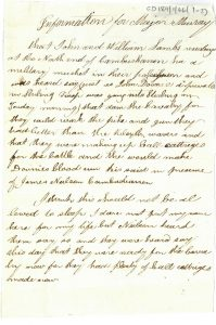 Anonymous letter to William Murray, 8th April 1820