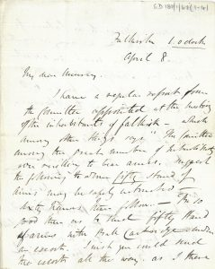 Letter M.S. Nicholson to Murray 8th April 1820