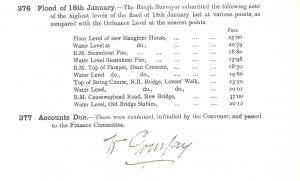 Stirling Burgh Council minutes January 1909