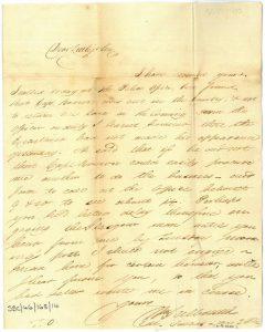 Galbraith to Littlejohn 3rd September 1820