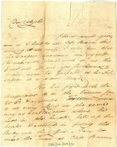 Galbraith to Littlejohn 4th September 1820