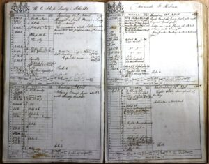 Log book of the Lady Melville showing layout of log entries