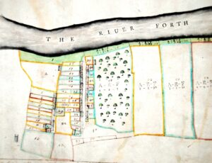 17th century plan of Cambuskenneth from the Cowane's Hospital plan collection