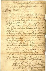 Petition to Stirling Town Council by William Garrow, 1753