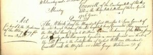 Cowane's Hospital Trust minutes 1736