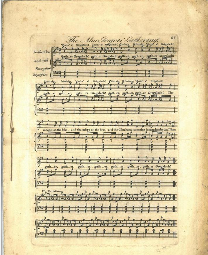 Highland Gathering song 1816