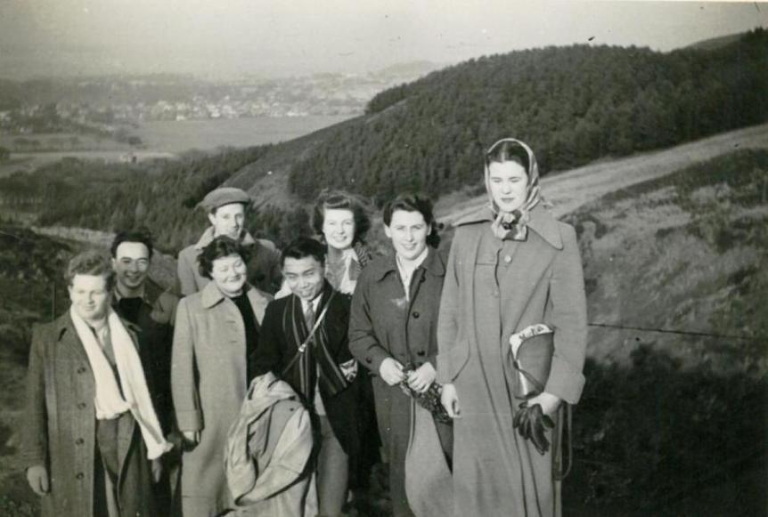 International Society delegates Killin 1950s