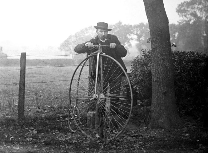 Not the best bike for country lanes c.1910