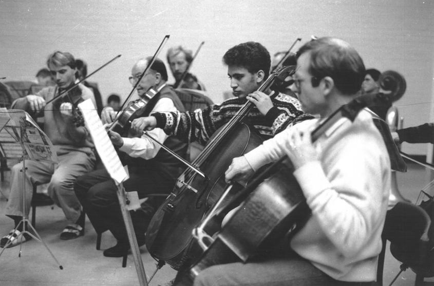 Concert Practice – Members of Stirling Orchestra in 1990 and 1991