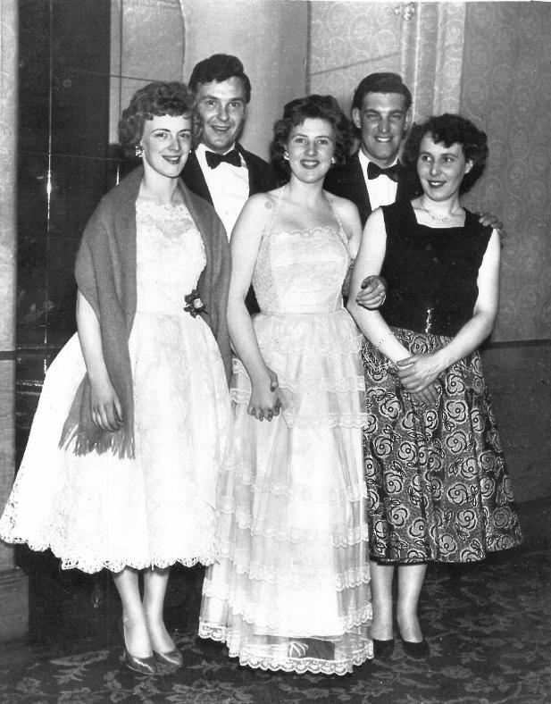 Couples at a dinner dance, Dunblane, 1950s
