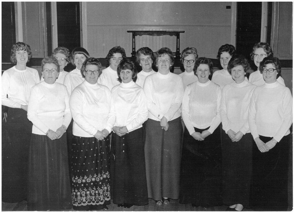 Killin Women's Rural Institute Choir, 1960s (Image courtesy of Ellen Stewart, Killin)