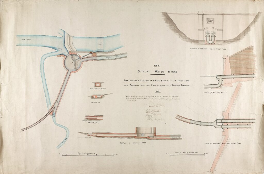 Reservoir extension 1881 Intake con