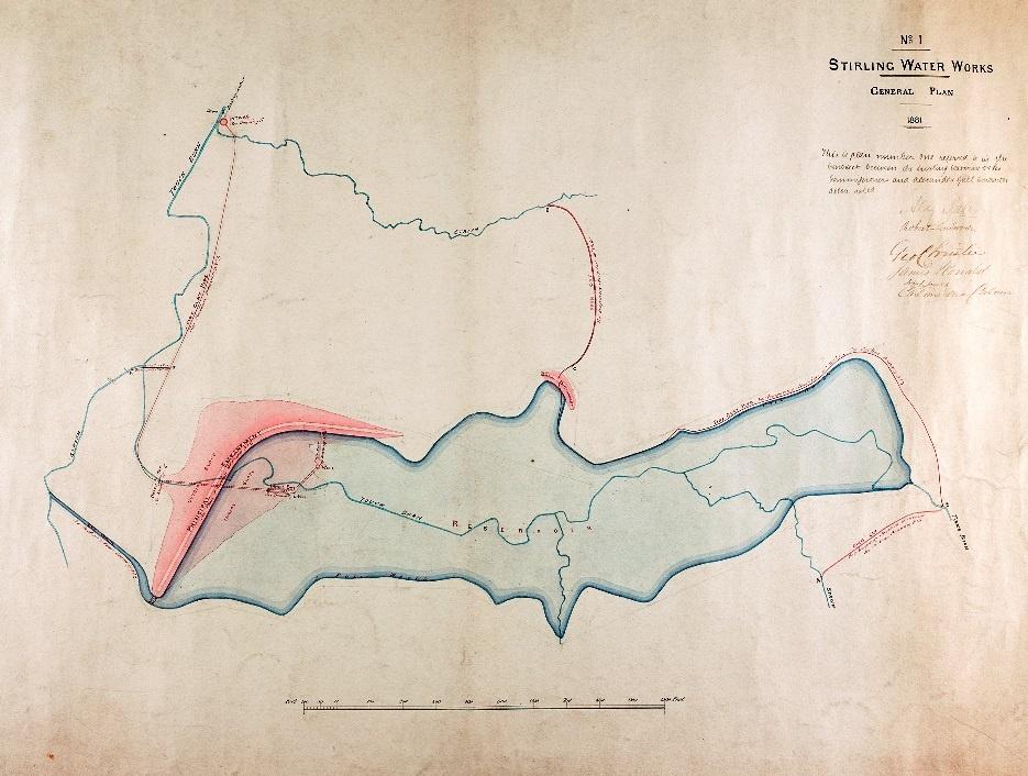 Reservoir extension 1881 general plan