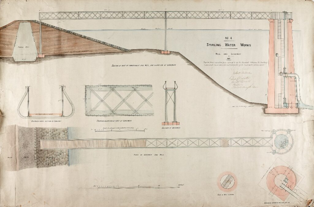 Reservoir extension 1881 sections