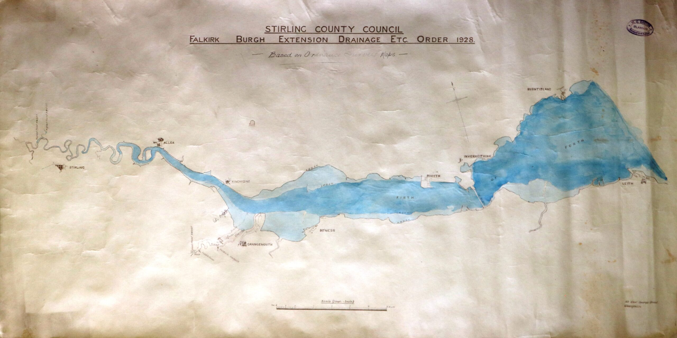 Plan of proposed drainage into the River Forth, 1928