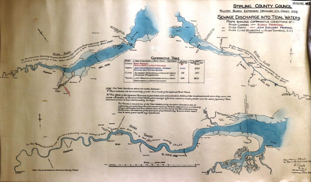 Comparison between waste water schemes on the Clyde, Forth and Thames, 1928